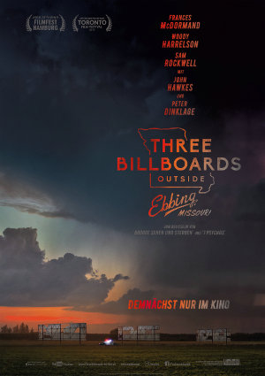 Three Billboards outside ebbing Missouri - Poster | Tragikomödie