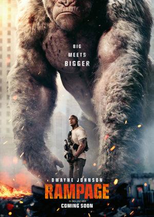 Rampage - Poster   Actionfilm nach Videospiel