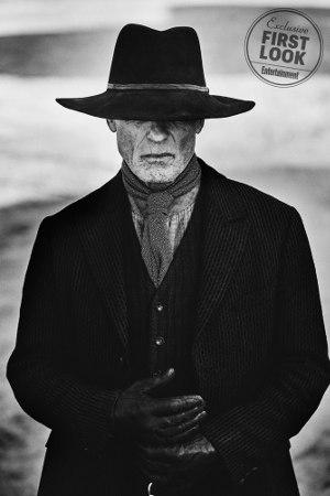 Westworld - Season 2 first look Entertainment Weekly - Ed Harris | schwarz-weiß Bild