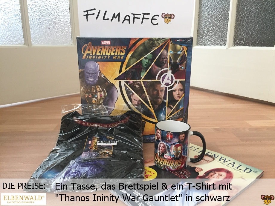 Elbenwald - Gewinnspiel zu Avengers Infinity War - die Preise | Eine Tasse, das Brettspiel und ein T-Shirt mit Thanos
