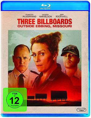 Three Billboards outside ebbing missouri - Blu-Ray Cover