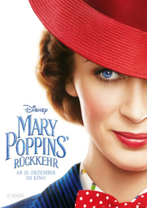 Mary Poppins Rückkehr - Poster   Fantasy Familienfilm