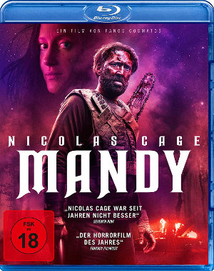 Mandy - BluRay-Cover | Horrorfilm mit Nicolas Cage