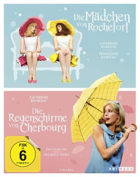 Mädchen von Rochfort_Regenschimre von Sherbourg - Blu-Ray-Cover | Kritik