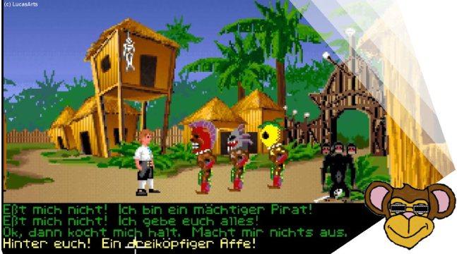 Monkey Island dreiköpfiger Affe | Klassiker von LucasArts