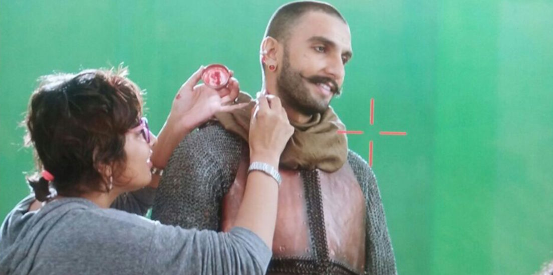 With Ranveer singh during Bajirao Mastani