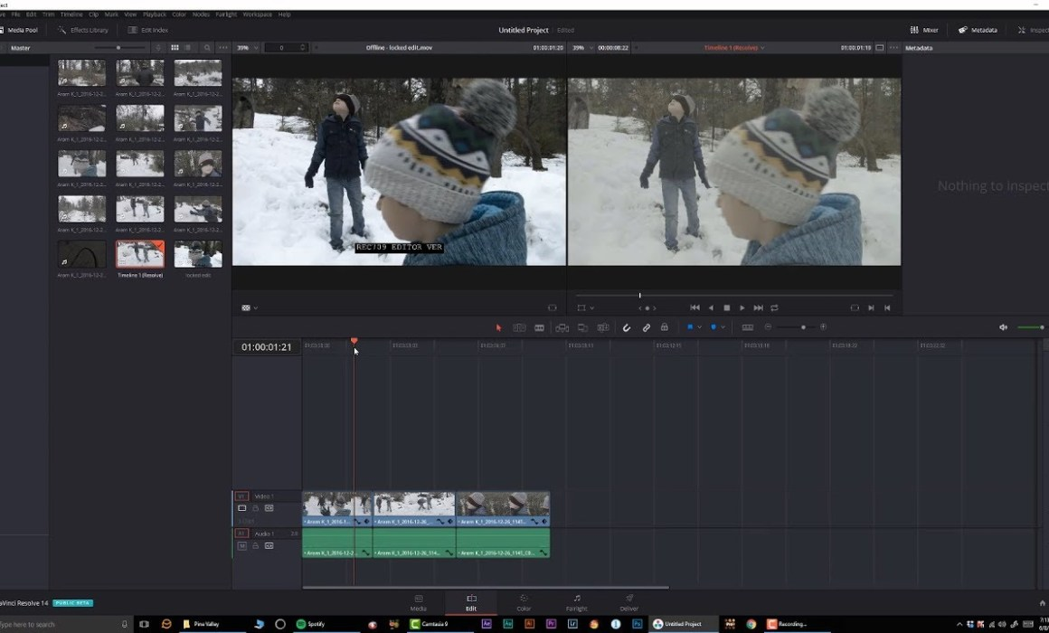 Using Reference Clips in Davinci Resolve 14