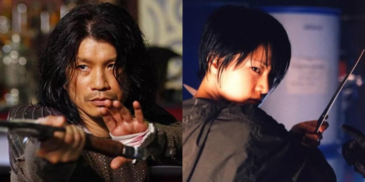 Dustin Nguyen and Shin Eun-kyung