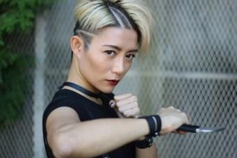 JuJu Chan on the set of Wu Assassins (5)