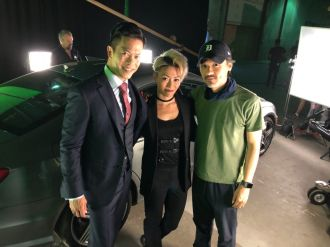 Byron Mann, JuJu Chan and Stephen Fung
