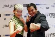 JuJu Chan promoting Jiu Jitsu with Tony Jaa