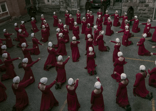 How the Symmetry and Aesthetics of 'The Handmaid's Tale' is Essential to  Its Storytelling – Film Daze