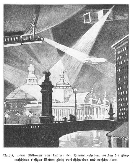 Großstadt in Arthur Brehmer, 'Die Welt in 100 Jahren' (1910)