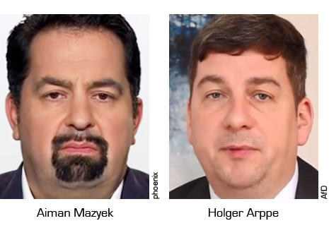 Aiman Mazyek, Holger Arppe, AfD