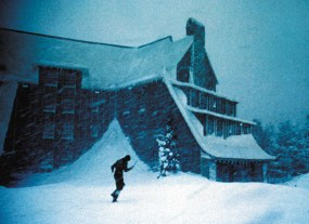ack Nicholson as Jack Torrance running in the snow. SHINING, THE Warner Bros