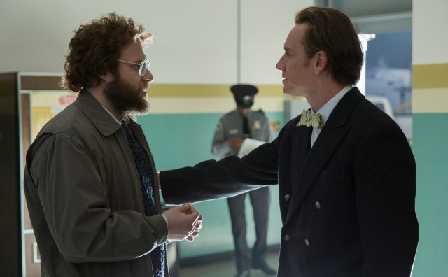 Seth Rogen and Michael Fassbender in Steve Jobs - © Universal Picture