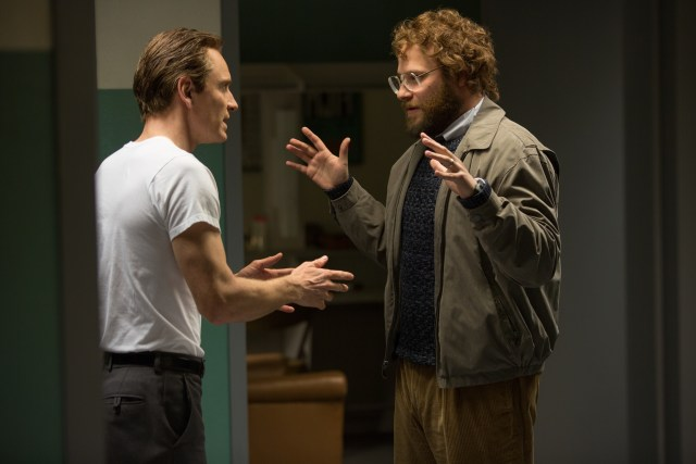 Michael Fassbender and Seth Rogen in Steve Jobs - © Universal Picture