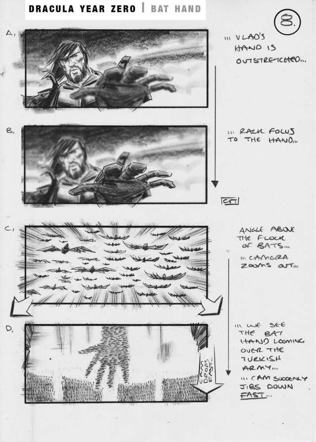 Dracula Zero One storyboard by Simon Duric