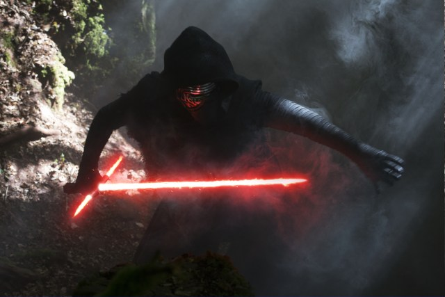 Star Wars: The Force Awakens..Kylo Ren (Adam Driver)..Ph: David James. Lucasfilm 2015