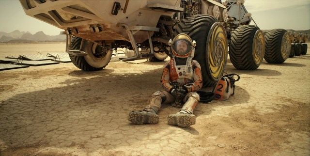 Matt Damon in The Martian - photo courtesy of Twentieth Century Fox - production design by Arthur Max