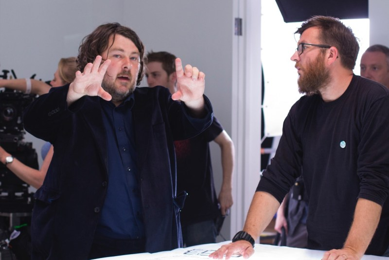 Ben Wheatley and Laurie Rose on set