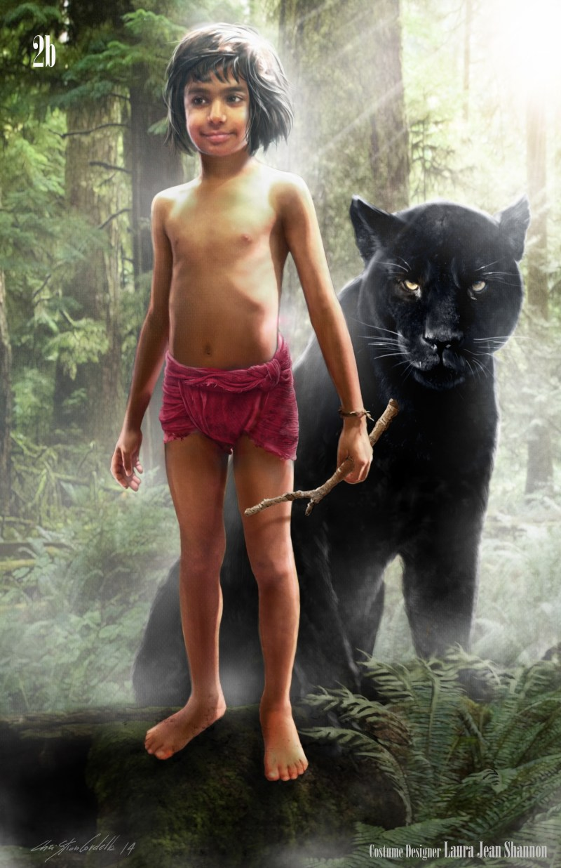 The Jungle Book Laura Jean Shannon costume sketch Mowgli
