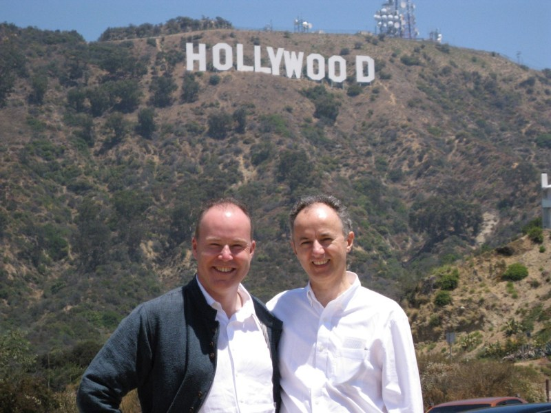Editor Mark Day with 'The Legend of Tarzan' director David Yates