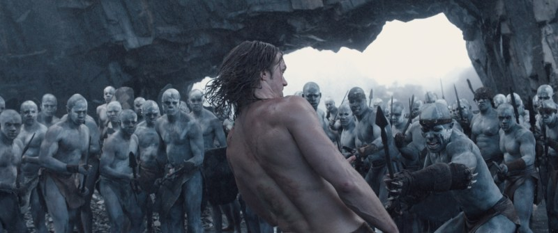 "LEXANDAR SKARSGÅRD (center) as Tarzan in Warner Bros. Pictures' and Village Roadshow Pictures' action adventure ""THE LEGEND OF TARZAN,"" distributed worldwide by Warner Bros. Pictures and in select territories by Village Roadshow Pictures."