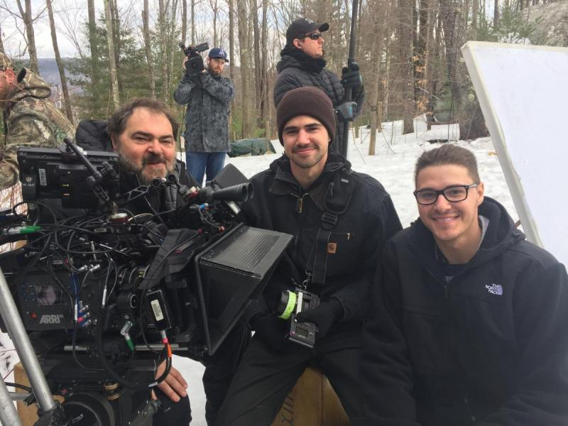 Julio Macat on set with focus puller sons Max Macat and Andreas Macat