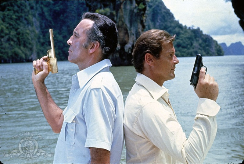 Sir Roger Moore as James Bond in The Man with the Golden Gun