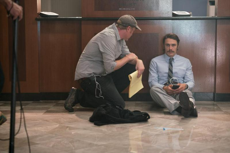 The Vault director Dan Bush with James Franco