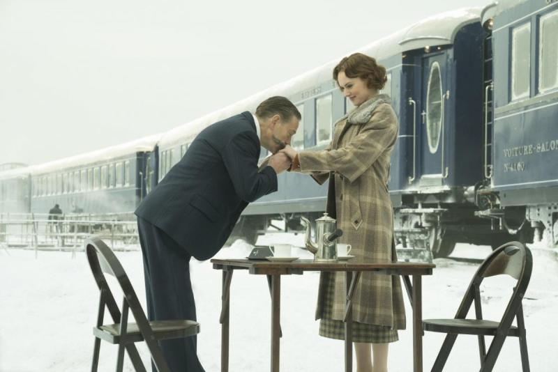 Sir Kenneth Branagh and Daisy Ridley in Murder on the Orient Express