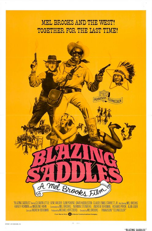 an analysis of satirical western films in blazing saddles a film Film review: blazing saddles  paving another trail for a string of brooks satire films that would dominate box offices for more than a dozen subsequent years  bold, experimental.
