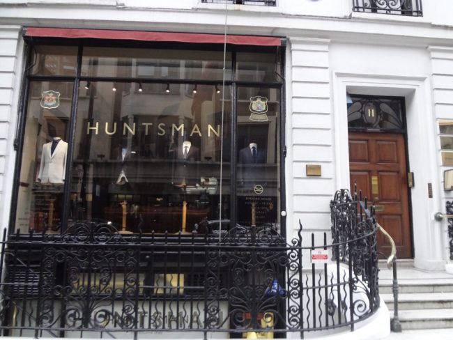 "The posh ""Huntsman"" store on 11 Savile Row. Photo: © Sonja Irani / filmfantravel.com"