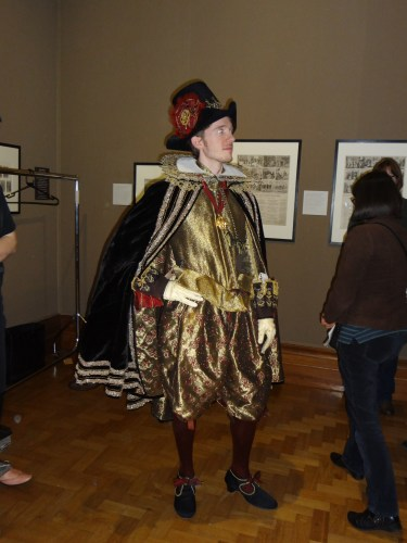 Actor on Elizabethan theme day