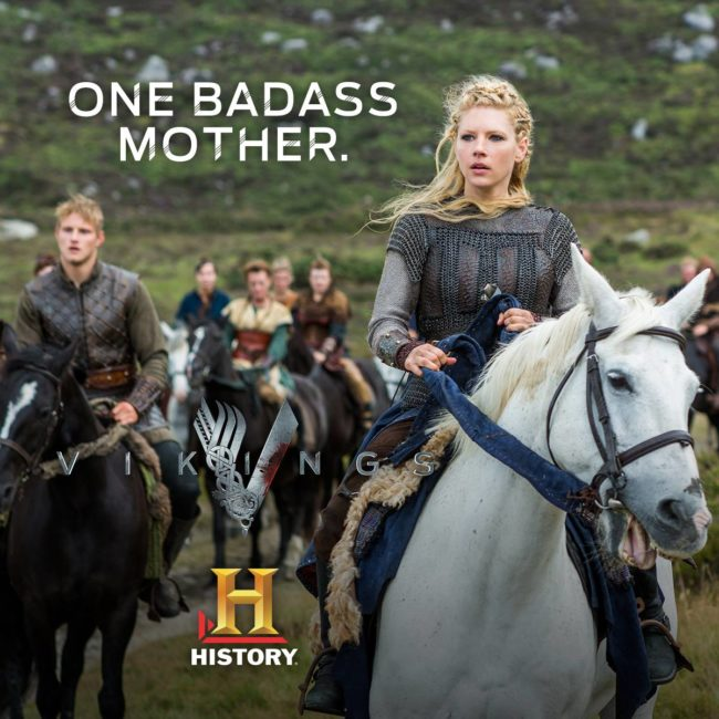 Ragnar's son Björn and ex wife Lagertha! Photo: Vikings History Facebook page