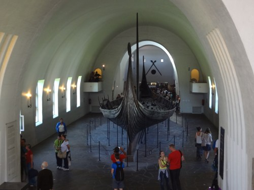 Another view at the Oseberg ship