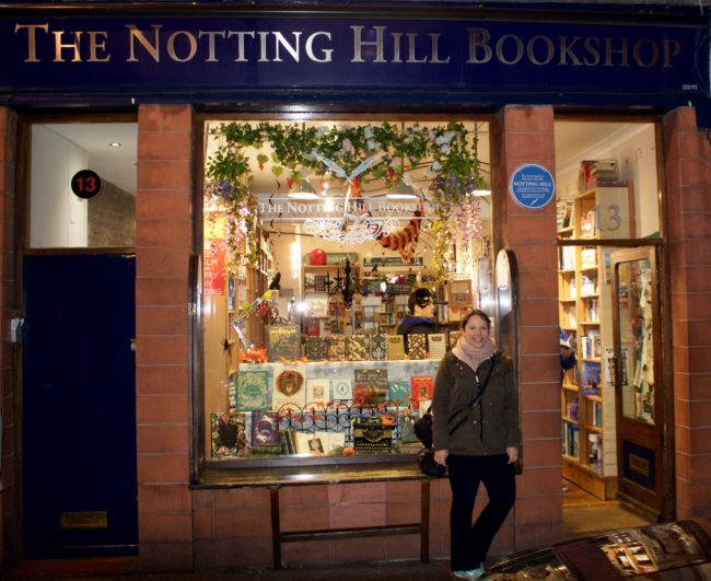 Me in front of THAT bookshop. Photo: © Sonja Irani / filmfantravel.com