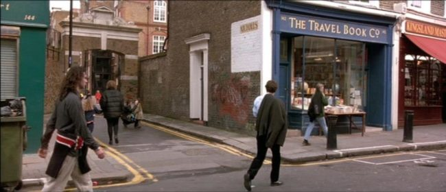 "Scene of Hugh Grant's character passing by his bookshop in ""Notting Hill"". Photo: © Universal Pictures"