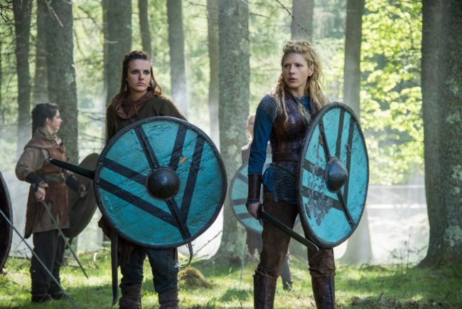 Lagertha and her shield maidens. Photo Source: Vikings Facebook