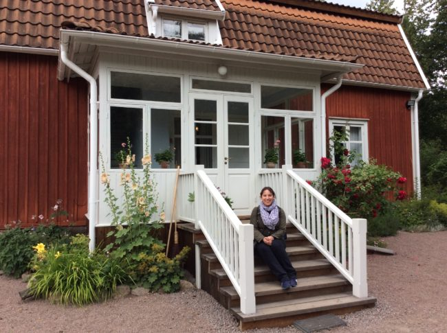 Me at Astrid Lindgren's childhood home. © Sonja Irani / filmfantravel.com