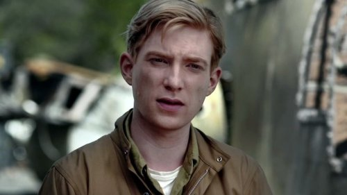 "Scene from ""Unbroken"". Domhnall Gleeson before being shipwrecked. Photo: © 2014 - Universal Pictures"