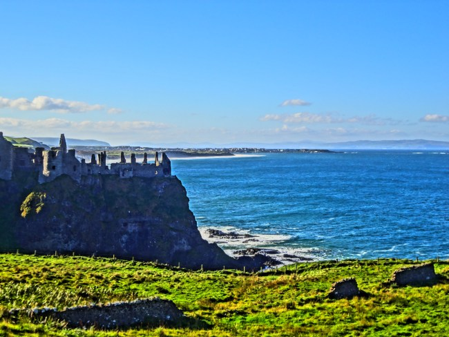 "One of the Irish castle ruins used as a filming location for ""Game of Thrones"""