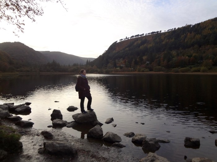 "Me at Glendalough, Wicklow County, Ireland – film location of ""Vikings"". © Sonja Irani / filmfantravel.com"