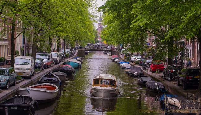 "Amsterdam, The Netherlands – film location for ""Oceans Twelve"". Photo: uncloggedblog.com"