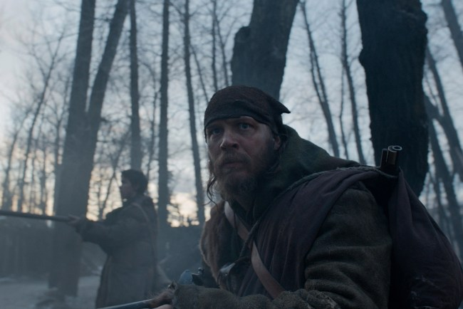"Fitzgerald and Bridges in ""The Revenant"". © Twentieth Century Fox Film Corporation"