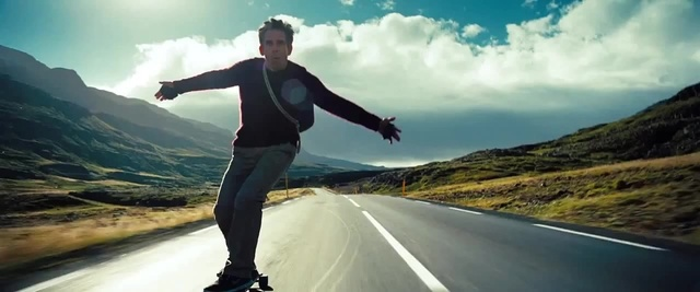 "Walter Mitty ""feeling the freedom"" in Iceland. © Twentieth Century Fox"