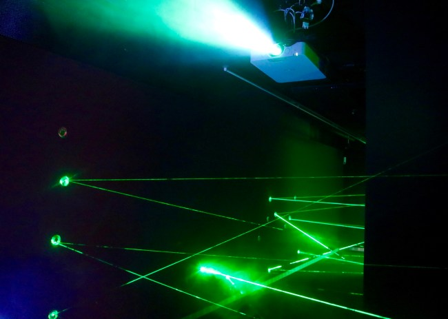 """The """"laser maze"""" at the German Spy Museum in Berlin"""