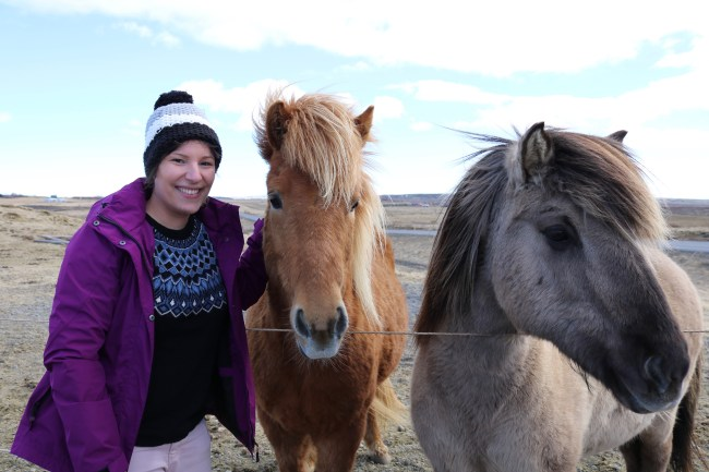 Me and two Icelandic beauties! It was love at first sight! ;-)