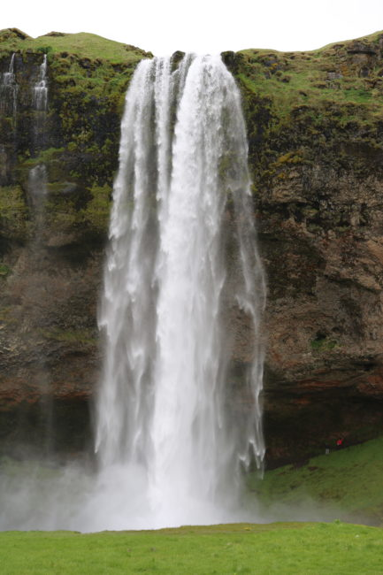 From the front, Seljalandsfoss is a pretty normal waterfall...